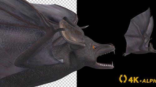 Vampire Bat - Flying Cycle - Right Side - 4K