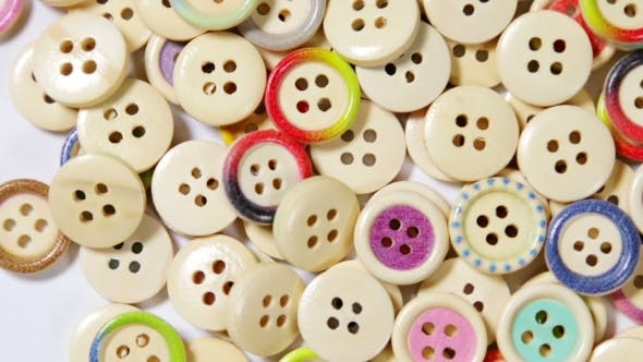 Thumbnail for Mixed Coloured Bright Wooden Buttons Background