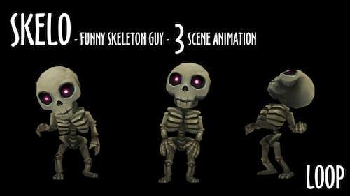 Skelo - Funny Skeleton Character - 3 Scene Pack