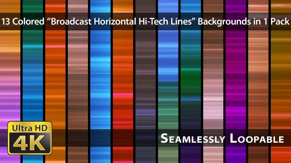 Thumbnail for Broadcast Horizontal Hi-Tech Lines - Pack 03