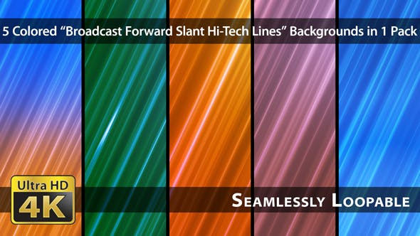 Thumbnail for Broadcast Forward Slant Hi-Tech Lines - Pack 04