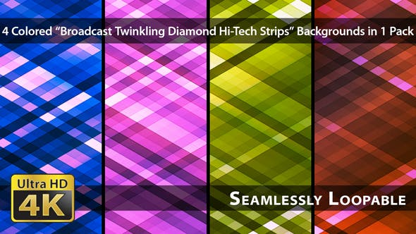 Thumbnail for Broadcast Twinkling Diamond Hi-Tech Strips - Pack 01