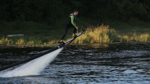 Hover Board rider. Fly Board Rider.