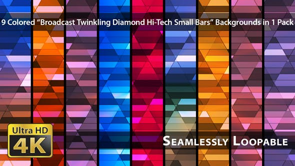 Thumbnail for Broadcast Twinkling Diamond Hi-Tech Small Bars - Pack 02