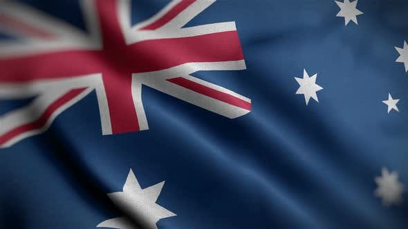 Thumbnail for Australia Flag Closeup Blowing In Wind