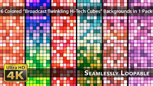 Thumbnail for Broadcast Twinkling Hi-Tech Cubes - Pack 03