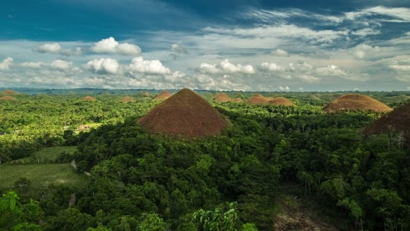 Thumbnail for View Of The Chocolate Hills In Bohol, Philippines.   - August 2016, Bohol, Panglao, Philippines