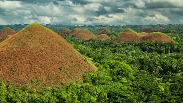 Cover Image for Beautiful Scenery of Chocolate Hills in Bohol, Philippines. - August 2016, Bohol, Panglao
