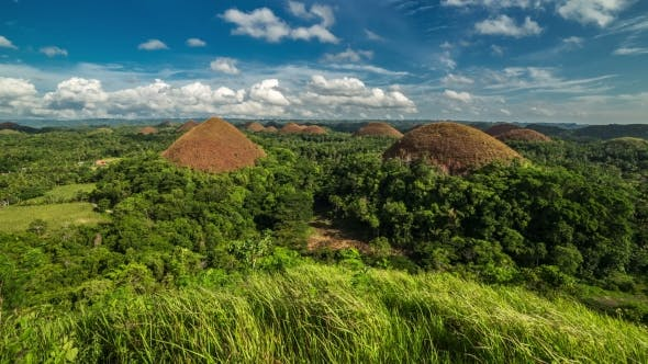 Thumbnail for Panorama Of The Chocolate Hills in Bohol, Philippines. August 2016