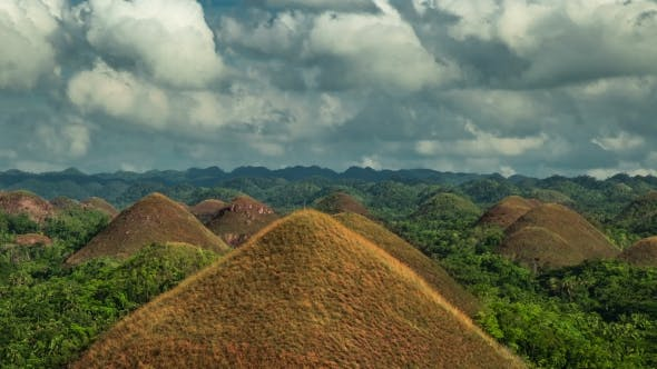 Thumbnail for View Over The Famous Chocolate Hills On Bohol, Philippines.   - August 2016, Bohol, Panglao