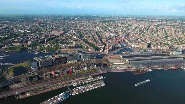 Cover Image for City Aerial View Over Amsterdam