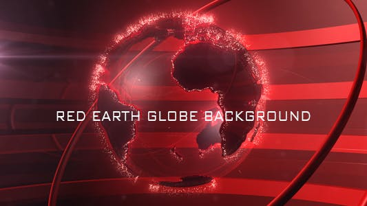 Thumbnail for Red Earth Globe Background