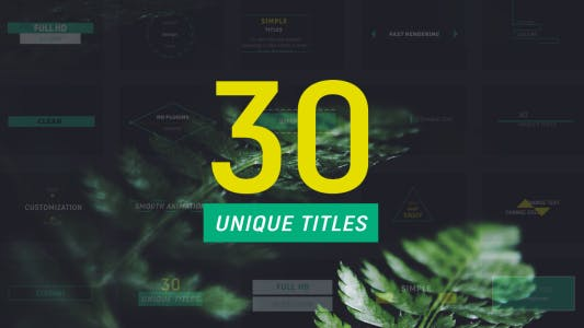 Thumbnail for 30 Minimal Titles