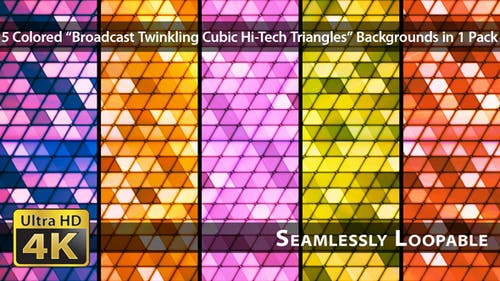 Broadcast Twinkling Cubic Hi-Tech Triangles - Pack 01