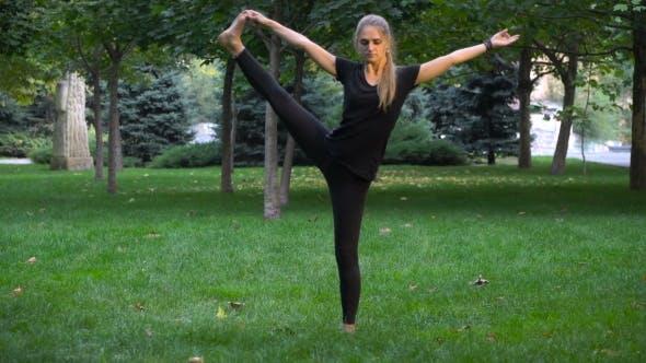 Thumbnail for The Girl In Park Doing Yoga