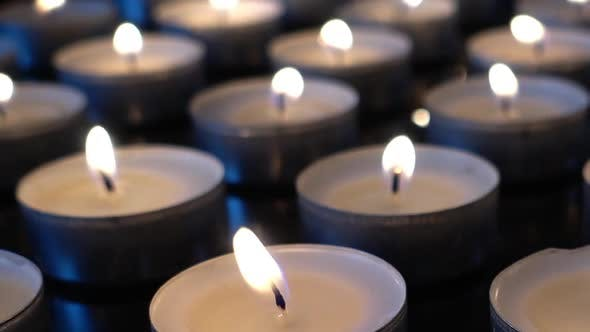 Candles on a Black Background