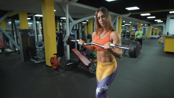 Thumbnail for Fit Girl Lifts Weights Lifts Weights