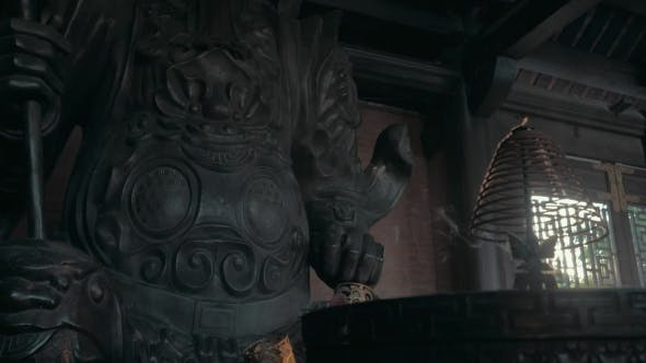 Thumbnail for Incense Smoke And Warrior Statue In Bai Dinh Temple, Vietnam