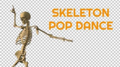 Skeleton Pop Music Dance