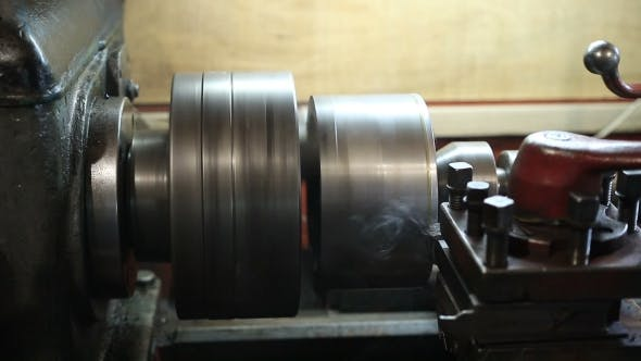 Thumbnail for Operator Turning Part By Manual Lathe Machine