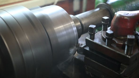 Thumbnail for Cutting Tool Processing On Old Lathe Machine
