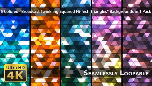 Thumbnail for Broadcast Twinkling Squared Hi-Tech Dreiecke - Pack 02