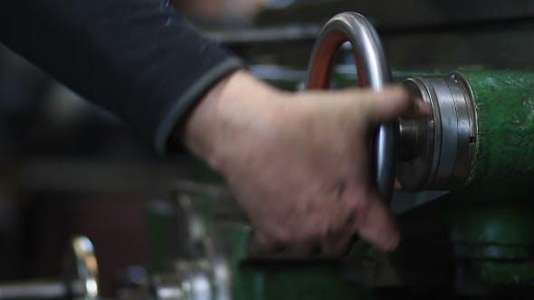 Thumbnail for Mechanic Operating Old Lathe Machine