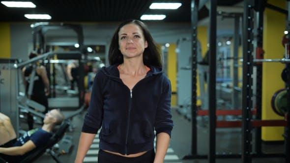 Thumbnail for Beautiful Girl Walks At The Gym