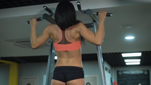 Thumbnail for Young Sexy Girl Doing Exercise At The Gym