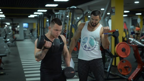 Thumbnail for Young Man With Dumbbells At The Gym