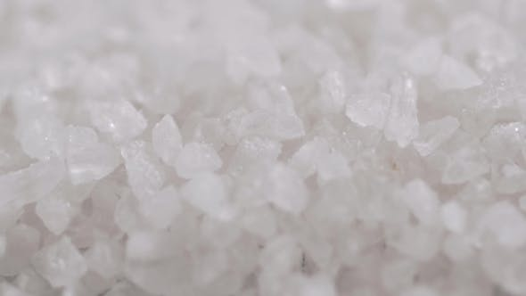 Thumbnail for Welsh Sea Salt Flakes On Dark Background.  Of Minerals Droping