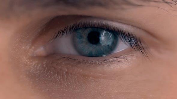 Thumbnail for Beautiful Blue Man Eyes With Conatc Lense