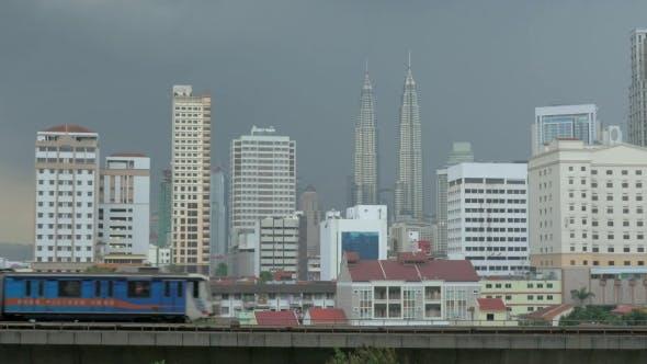 Thumbnail for Overground Train In Kuala Lumpur, Malaysia