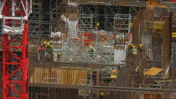 Thumbnail for View Of Construction Area With Builders In Work. Kuala Lumpur, Malaysia