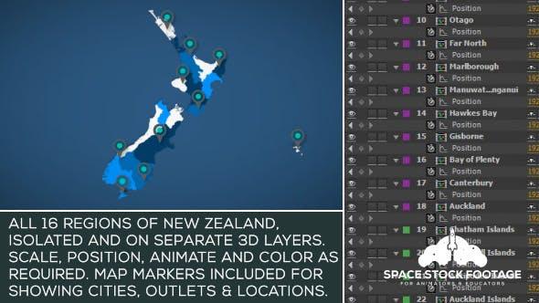 New Zealand Map Kit