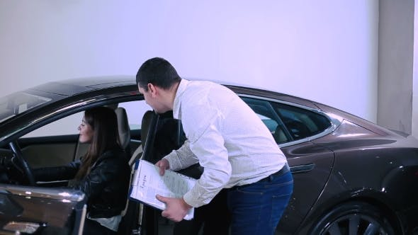 Thumbnail for The Girl Testing The Electric Car