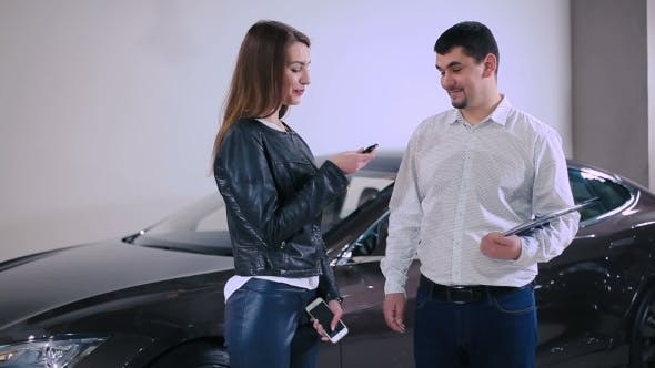 Thumbnail for The Manager Talking With Woman About Car Keys