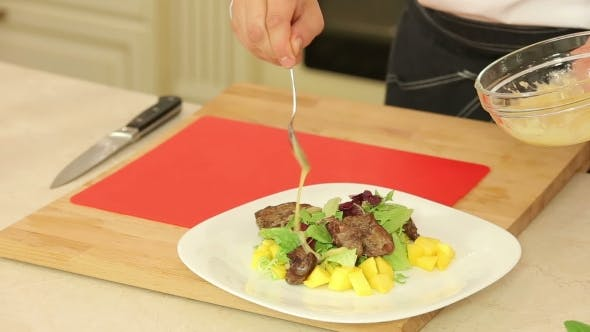 Thumbnail for Cooking Salad With Chicken Liver And Mango