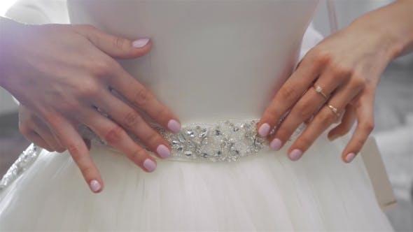 Thumbnail for Fitting Wedding Dress, Sew a Dress, Shop Asssistant Help Customer.
