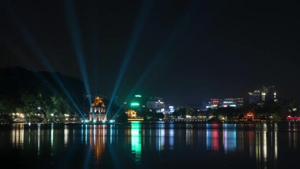 Thumbnail for Night Hanoi With Colorful Hoan Kiem Lake