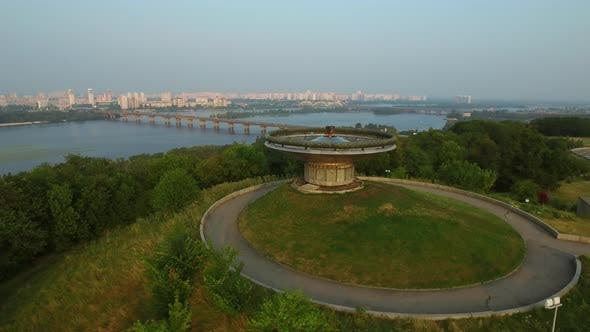 Thumbnail for Drone View Eternal Flame on on Mother Motherland Landscape in Kiev City, Ukraine