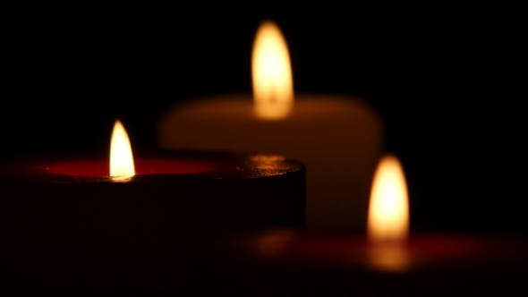 Thumbnail for Lighted Decorative Candle. Bokeh