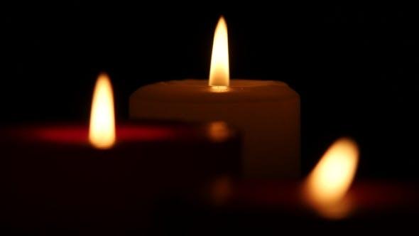 Thumbnail for Candles Flames At Night