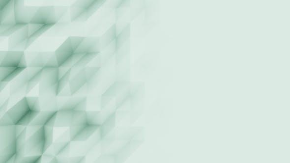Thumbnail for Abstrakter grüner polygonaler Bewegungshintergrund