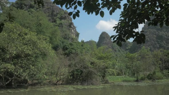 Nature Scene Of Trang An In, Vietnam