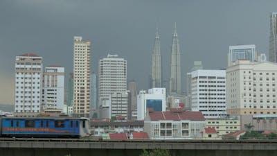 Overground Train In Kuala Lumpur, Malaysia