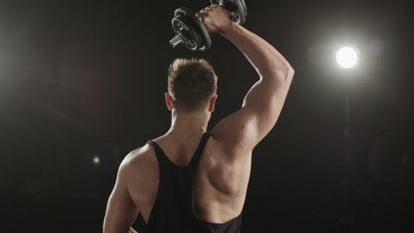 Thumbnail for Healthy Young Man Training His Right Triceps.