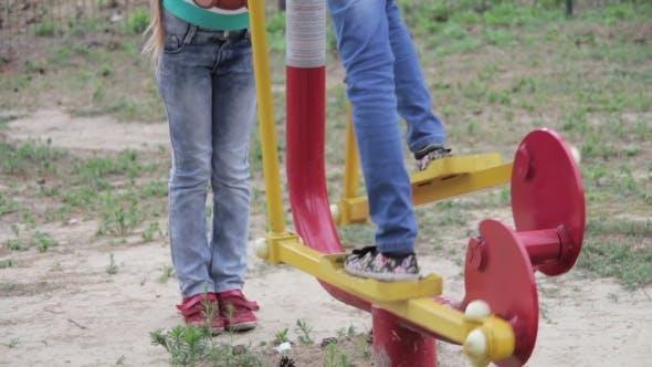 Thumbnail for Children Fitness Equipment On The Street