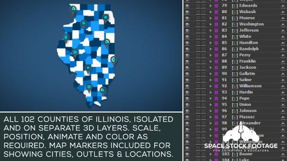 Illinois Map Kit