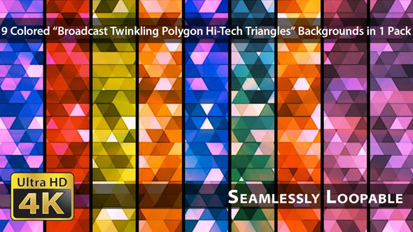 Thumbnail for Broadcast Twinkling Polygon Hi-Tech Triangles - Pack 01